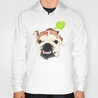 english bulldog Hoodies featuring English Bulldog - F.I.P. - @LucyFarted by PaperTigress