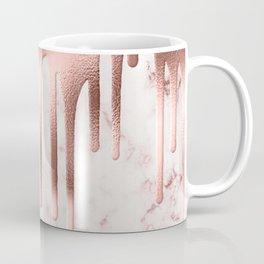 Rose Gold Marble Metallic Drips Coffee Mug