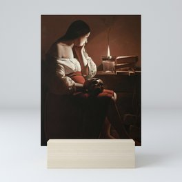 The Magdalen with the Smoking Flame Mini Art Print