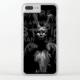 DONNIE DARKO - MEN SUIT Clear iPhone Case