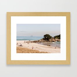 Summer At The Beach Framed Art Print