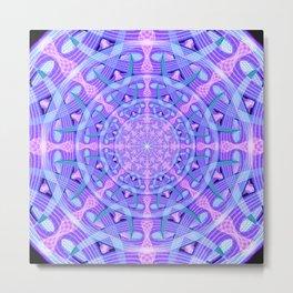 Temporal Warp Mandala Metal Print