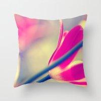 tulips Throw Pillows featuring tulips by Falko Follert Art-FF77