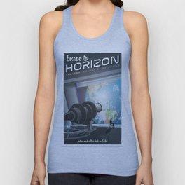Horizon Lunary Colony Travel Poster Unisex Tank Top