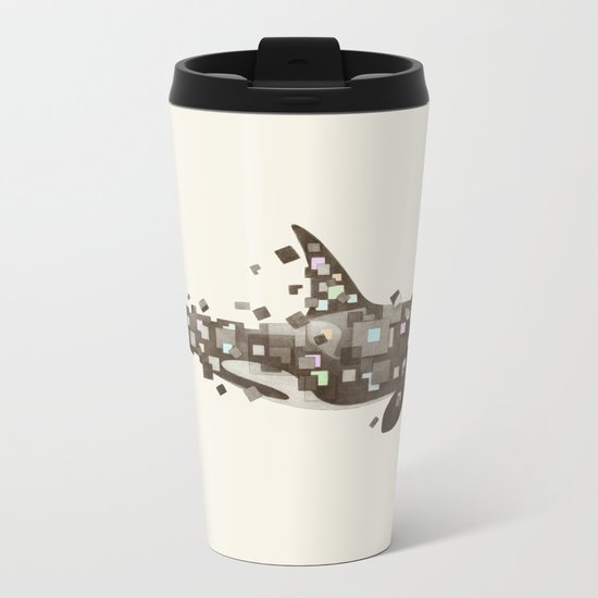 Fractured Killer Whale Metal Travel Mug