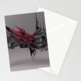 abstract chaos illustration Stationery Cards