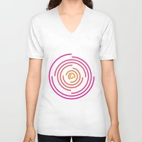 neon V-neck T-shirts featuring Neon by Jeff Merrick