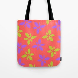 Illustration of flowers(red background) Tote Bag