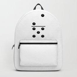 White Domino / Domino Blanco Backpack