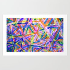 Triangle color splash Art Print