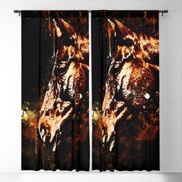 horse splatter watercolor Blackout Curtain
