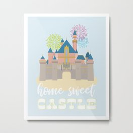 Disneyland Castle, Home Sweet Castle Metal Print