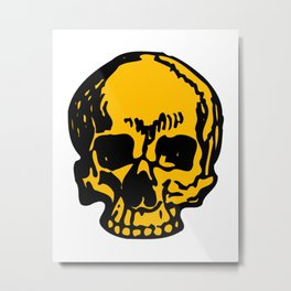 24K Gold Pirate Skull, Vibrant Skull, Super Smooth Super Sharp 9000px x 11250px PNG Metal Print