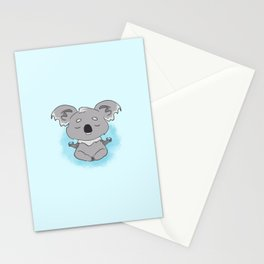 Calm happy meditating Koala Stationery Cards