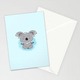 Calm happy meditating Koala Stationery Cards