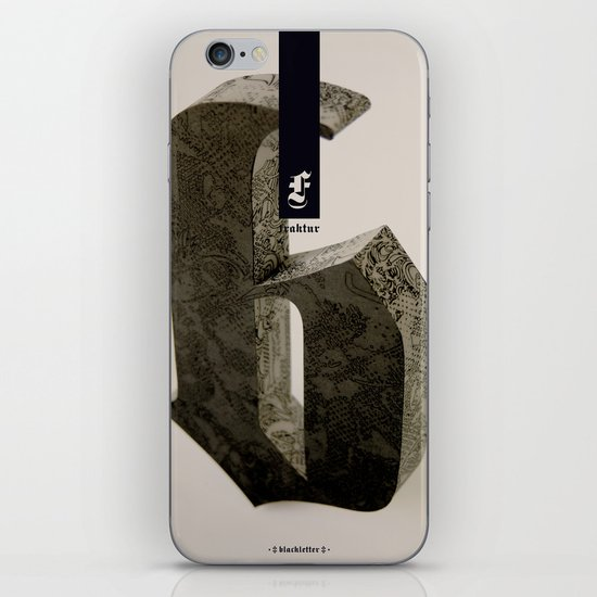 Blackletter iPhone & iPod Skin