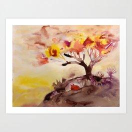 orange tale Art Print