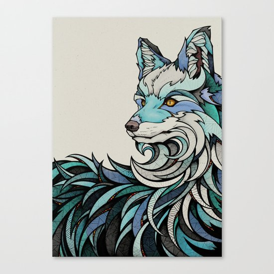 Berlin Fox Canvas Print