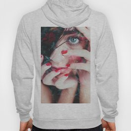 Face surrounded by flowers Hoody