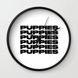 Puppies Puppies Puppies Wall Clock