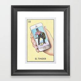 El Tinder Framed Art Print