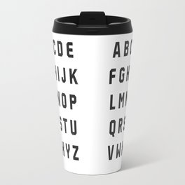 Typography Alphabet #2 Travel Mug