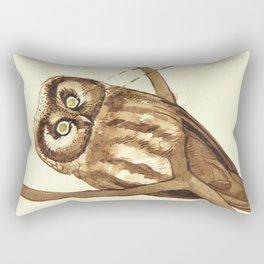 Laser Boreal Owl Rectangular Pillow
