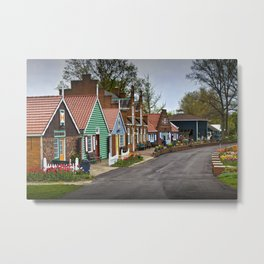 Dutch Shops on Windmill Island in Holland Michigan a Taste of the Netherlands Metal Print
