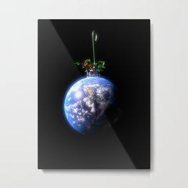 Christmas World Peace Metal Print