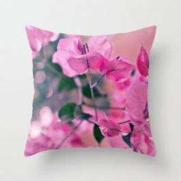 Mother's Day series - light pink Throw Pillow