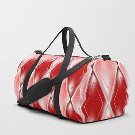 Glass effect red pattern Duffle Bag