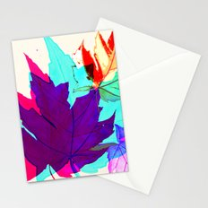 Maple Leaves Falling Stationery Cards