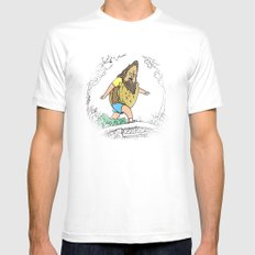 Beefsquatch MEDIUM White Mens Fitted Tee