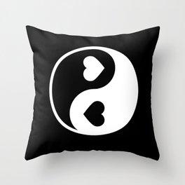 Yin Yang Black & White Throw Pillow