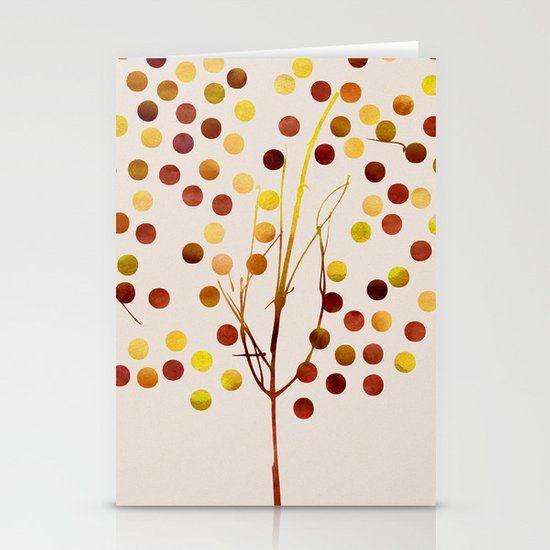 Tree of Life_Amber by Jacqueline and Garima Stationery Cards