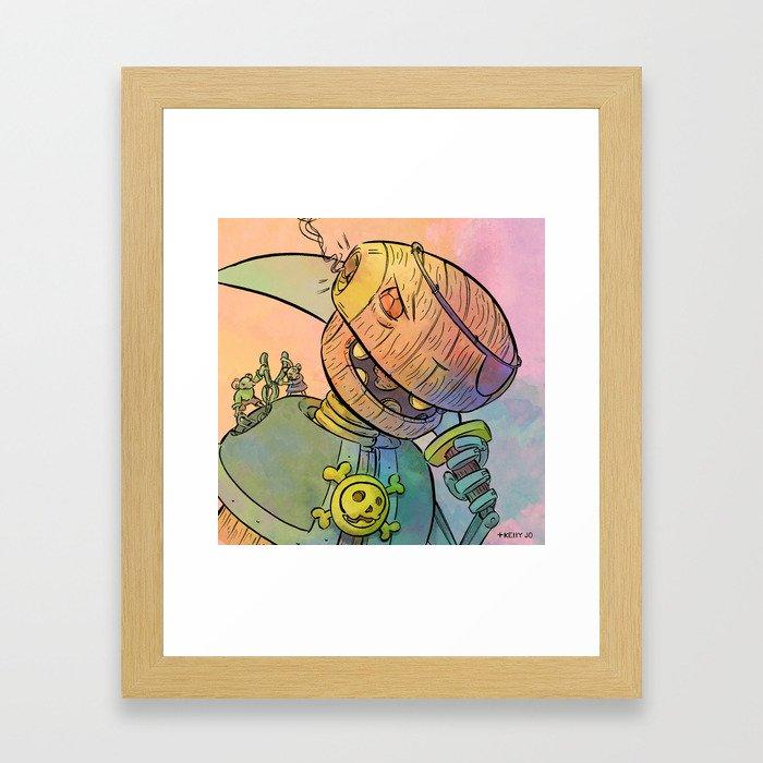 Robot Pirate Framed Art Print
