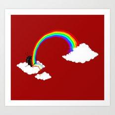 Rainbow TV Art Print