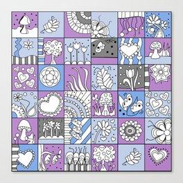 Inchie Doodle Design - Lavender Blue - Spring Canvas Print
