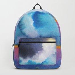 Watercolor landscape sky clouds Backpack