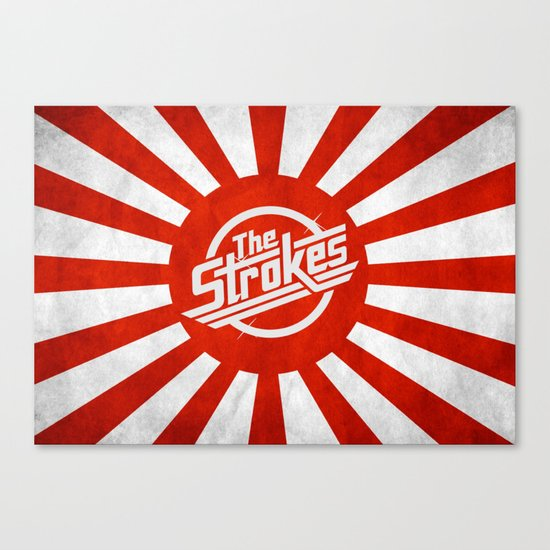 The Strokes Logo Welcome To Japan Canvas Print