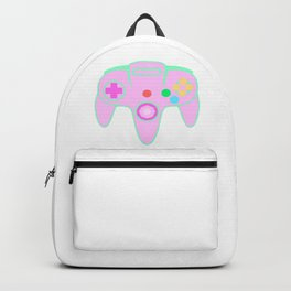 64 Video Game Controller Parody Pastel Pink Backpack