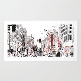 Broadway & 6th Art Print