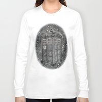 tardis Long Sleeve T-shirts featuring Tardis by Elizabeth A