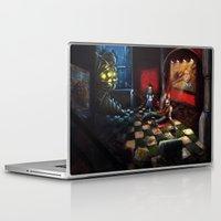 bioshock infinite Laptop & iPad Skins featuring Bioshock by Michele Giorgi