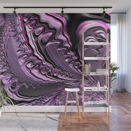 Purple fractal flowing fantasy Wall Mural