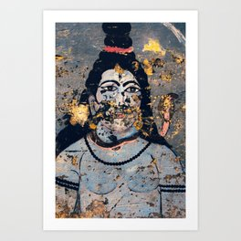 Hindu mural Art Print