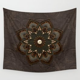 Steampunk, beautiful mandala Wall Tapestry