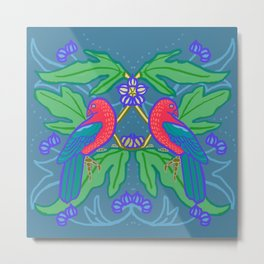 King Parrots and Figs 1 Metal Print