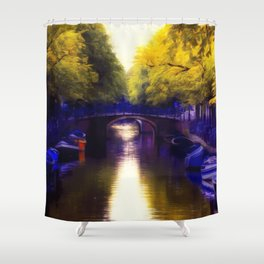 A small bridge Shower Curtain