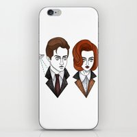 mulder iPhone & iPod Skins featuring mulder and scully by Bunny Miele